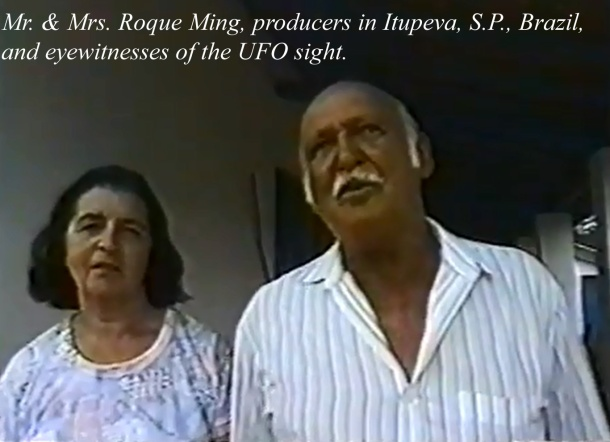 Mr. & Mrs. Roque Ming, Producers in Itupeva, S.P., Brazil, and eyewitnesses of the event.