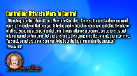 Controlling Attracts More To Control
