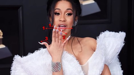 Cardi B's extra long index finger